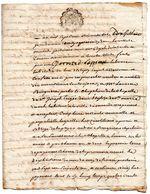 Cachet De Généralité AUCH, Deux Sols, Sur Obligation En Rente Constituée, à ESTIPOUY (Gers),1760, Par Not. Royal Mirande - Matasellos Generales