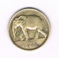 1 FRANC 1946 BELGISCH CONGO /6221/ - Congo (Belge) & Ruanda-Urundi