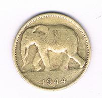 1 FRANC 1944 BELGISCH CONGO /6222/ - Congo (Belga) & Ruanda-Urundi