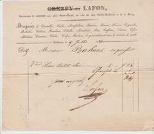 BORDEAUX: CRESPY & LAFON, Dentelles, Organdis, Perkales ... Pl St Projet / Fact. De 1834 - Textilos & Vestidos