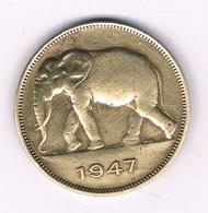 5 FRANCS  1947 BELGISCH CONGO /6224/ - Congo (Belge) & Ruanda-Urundi