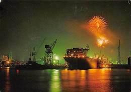 Hamburg Feuerwerk Uber Dem Hafen Schiff Ship Harbour Fireworks - Germania