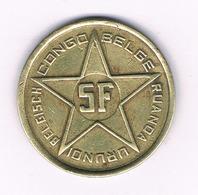 5 FRANCS  1952 RUANDA  URUNDI  BELGISCH CONGO /6225/ - 1951-1960: Baudouin I