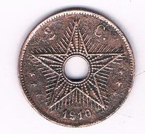 2 CENTIMES 1910  BELGISCH CONGO /6226/ - 1910-1934: Albert I