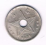 5 CENTIMES 1921   BELGISCH CONGO /6227/ - 1910-1934: Albert I