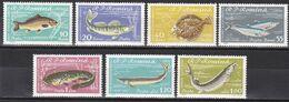 Tr_ Rumänien 1960 - Mi.Nr. 1927 - 1933 - Postfrisch MNH - Tiere Animals Fische Fishes - Poissons