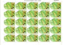 Feuille De Citron-vert (lime)  Feuille Entière De 25 Timbres Neufs **, Année 2020. AND.ESP - French Andorra
