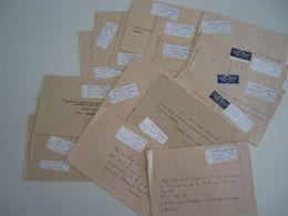 Maroc 1997 - Petit Lot De 17 Poste Aérienne Avec Vignettes D'affranchissement - Casablanca - Meknes - Tiflet - Khemisset - Briefmarken