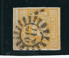 """Nr. 7 , 18 Kr.gelb , Sehr Breitrandig ,allseits  , Sehr Gute Erhaltung ,klar """" 217 """"  Mi. 240,- +  #1170 - Bayern (Baviera)"""