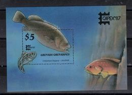 GRENADE - GRENADINES    Timbre Neuf ** De 1987  ( Ref 7013 ) Animaux Marins - Poissons -Exposition Capex 87 - Grenada (1974-...)