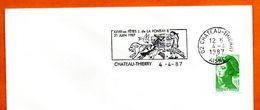 02  CHATEAU THIERRY  J. DE LA FONTAINE 1987 Lettre Entière N° ST 322 - Poststempel (Briefe)