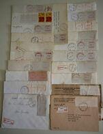 Belgique - Petit Lot De 21 Vignettes D'affranchissement Sur Lettres Recommandées - Briefmarken