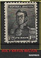 ARGENTINA 1892 -1897 San Martin    WM  SMALL SUN  1.20  PESOS USED - Used Stamps