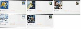 PAP Série De 5 Enveloppes Neuves Avec Leur Carte Bandes Dessinées La Communication Voir Scan - Entiers Postaux