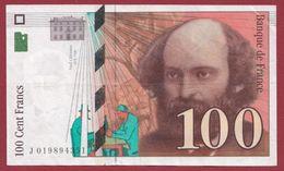 "100 Francs ""Cézanne"" 1997--TTB+----ALPH.J ---Numéro.019894351 - 1992-2000 Ultima Gama"