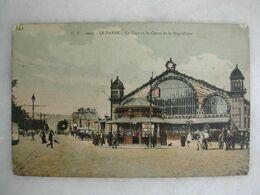 FERROVIAIRE - Gare - LE HAVRE - La Gare Et Le Cours De La République (très Animée) - Gares - Sans Trains