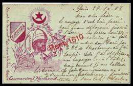 FACHODA - LE COMMANDANT MARCHAND - Né à THOISSEY Dans L'AIN. Circulé En 1898  RARE Scan Recto/verso - Characters