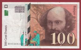 "100 Francs ""Cézanne"" 1998--TTB+----ALPH.W ---Numéro.053892432 - 1992-2000 Ultima Gama"