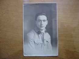 WWI CARTE POSTALE PHOTO Postcard MILITAIRE SOLDAT 15 Sur L'uniforme - Guerre 1914-18
