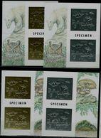 GUYANA 1994  FAUNA INSECTS SET OF 4 BLOCKS GOLD+SILVER SPECIMEN MI No BLOCK 391-4 MNH VF!! - Insectes