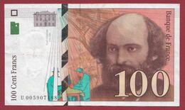 "100 Francs ""Cézanne"" 1997--TTB+----ALPH.V ---Numéro.005907188 - 1992-2000 Ultima Gama"