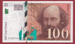 "100 Francs ""Cézanne"" 1997--TTB+----ALPH.X ---Numéro.007749072 - 1992-2000 Ultima Gama"