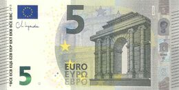 5 Euro - New Signature Ch. Lagarde Serie NC - AUSTRIA Plate N020 Perfect UNC - EURO