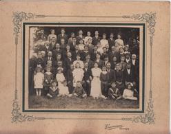 PHOTOGRAPHIE ORIGINALE Cartonnée - Photo De Famille Mariage Mariés - Photo GUENEAU Izeures - Anonyme Personen