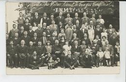 """SYNDICATS - C.G.T.- Congrès Confédéral 1927- Villa Des Métros-Carte Photo Avec Journal """"LE PEUPLE """"Photo COLLARD à LAGNY - Syndicats"""