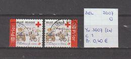 België 2007 - Yv. 3607 (2x) - OCB 3622/a Gest./obl./used - Belgium