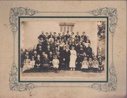 PHOTOGRAPHIE ORIGINALE Cartonnée - Photo De Famille Mariage Mariés - Photo H. BOUTIN Izeures - Anonyme Personen