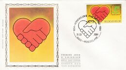 FDC Soie 2128 Roeselare - 1981-90