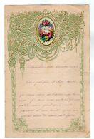 VP17.256 - 1890 - Lettre Illustrée Papier Gaufré Double Page & Découpi Fleurs - Melle Marie HODEE à PELLOUAILLES - Other