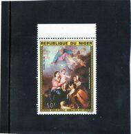1975 Niger - Vergine Di Siviglia Di Murillo - Madonnas