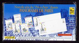 France PAP Neuf Série De 5 Enveloppes Sous Blister Fermé 'panorama De Paris' MNH - Entiers Postaux