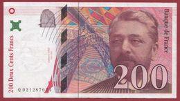 """200 Francs """"Eiffel"""" 1996 ---SUP--ALPH -Q----numéro .0021287624 - 1992-2000 Ultima Gama"""