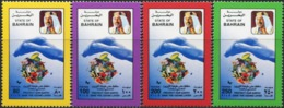 BAHRAIN 1997 Save The Ozone Layer Fish Fishes Bird Butterflies Insects Animals Fauna MNH - Poissons
