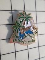 216c Pin's Pins / Beau Et Rare / THEME : VILLES / 1992 LES TROIS RIVIERES LA FERTE ST AUBIN - Ciclismo