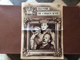 CIRQUE   ILLUSTRE DU CIRQUE KNIE  Suisse  ANNEE 1954 - Programmi