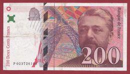 "200 Francs ""Eiffel"" 1996 ---TTB--ALPH -P----numéro .023726100 - 1992-2000 Ultima Gama"