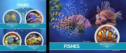 Maldives 2020, Animals, Fishes, 4val In BF+BF - Poissons