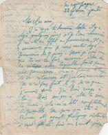 FRANCE : AVIATION . 2 FEUILLES DE TEXTE A UN AMI DE ROBERT RAGAZ . ESCADRILLE 65 , SP 182 . 1918 - Aviation