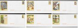 Série De 6 PAP Neufs Fables De LA FONTAINE Avec Leurs Cartes Assorties - Entiers Postaux