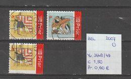 België 2007 - Yv. 3648/49 - OCB 3665a/66a + 3665c Gest./obl./used - Belgium