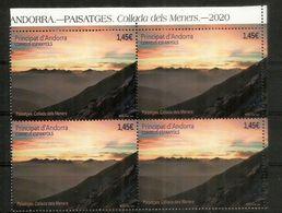 Collada Dels Meners, Paso A 2679 M De Altitud.  Sellos Nuevos. ** Bloque De 4 .  Año 2020 . AND.ESP - French Andorra