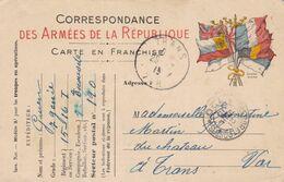 84. TRANS. MILITARIA. GUERRE 1914- 18. CORRESPONDANCE DES ARMÉES DE LA RÉPUBLIQUE. ANNEE 1915 + TEXTE . - Guerre 1914-18