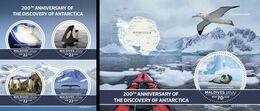 Maldives 2020, Antartica, Birds, Maps, 4val In BF+BF - Antarctic Wildlife