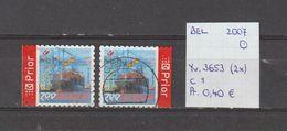 België 2007 - Yv. 3653 (2x) - OCB 3670/a Gest./obl./used - Belgium
