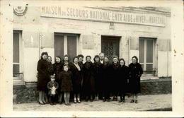 FRANCE- Carte Postale Photo - Devanture D'un Centre De Secours National D'entraide D'Hiver Du Maréchal - L 66045 - Guerre 1939-45