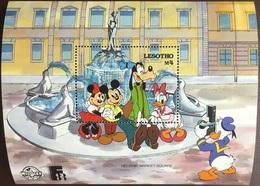 Lesotho 1988 Finlandia Disney Minisheet MNH - Lesotho (1966-...)